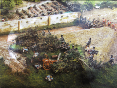 95th Rifles in the sandpit-Postcard